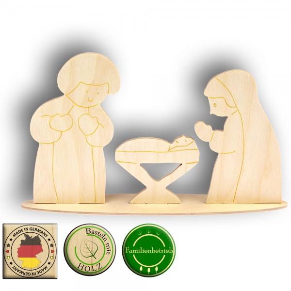 Maria, Josef und Krippe