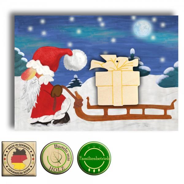 Weihnachtskarte A5 mit Geschenkpaket