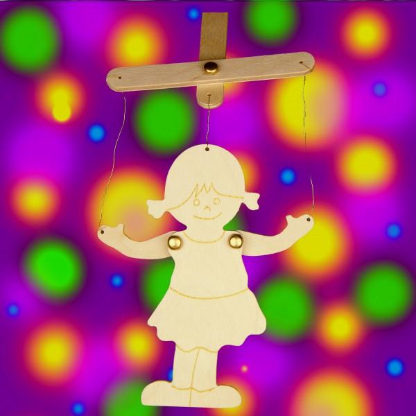Mädchen (Gretel) als Marionette