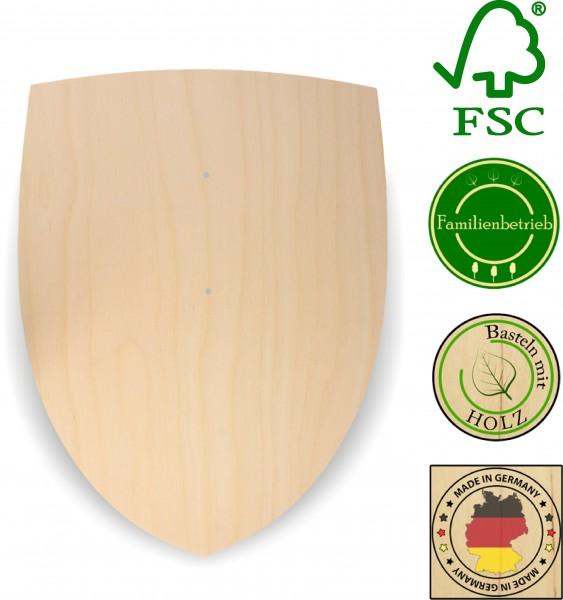 Ritterschild aus 3 mm Birkensperrholz