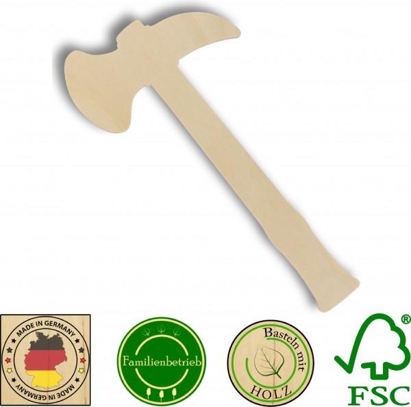 10x Tomahawk aus 3mm Birkensperrholz