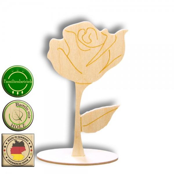 Rose aus Holz