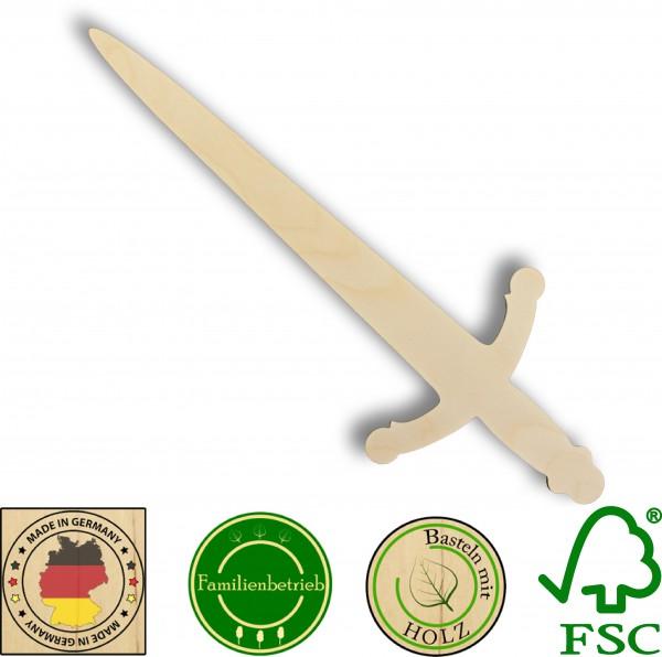 Ritterschwert aus 3 mm Birkensperrholz
