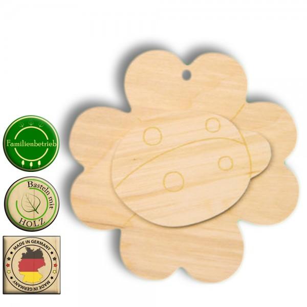 Kleeblat Bastelartikel Holz