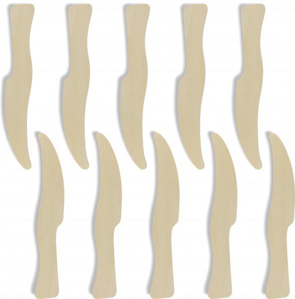 10x Indianermesser aus 3mm Birkensperrholz