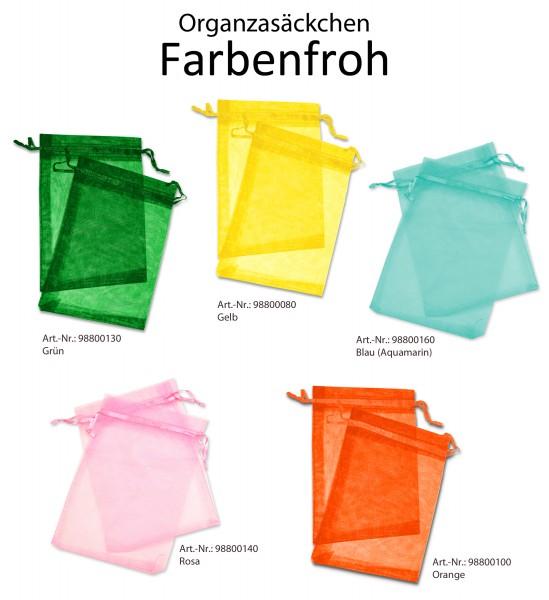 """Organzaset - """"Farbenfroh"""" - Organzasäckchen 13x18 cm"""